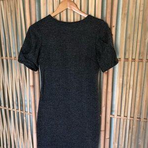 Banana Republic Dark Grey Dress w/ Puff Sleeve
